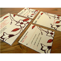 A2, A6, & A7 Flat Cards, w/or without printed envelope