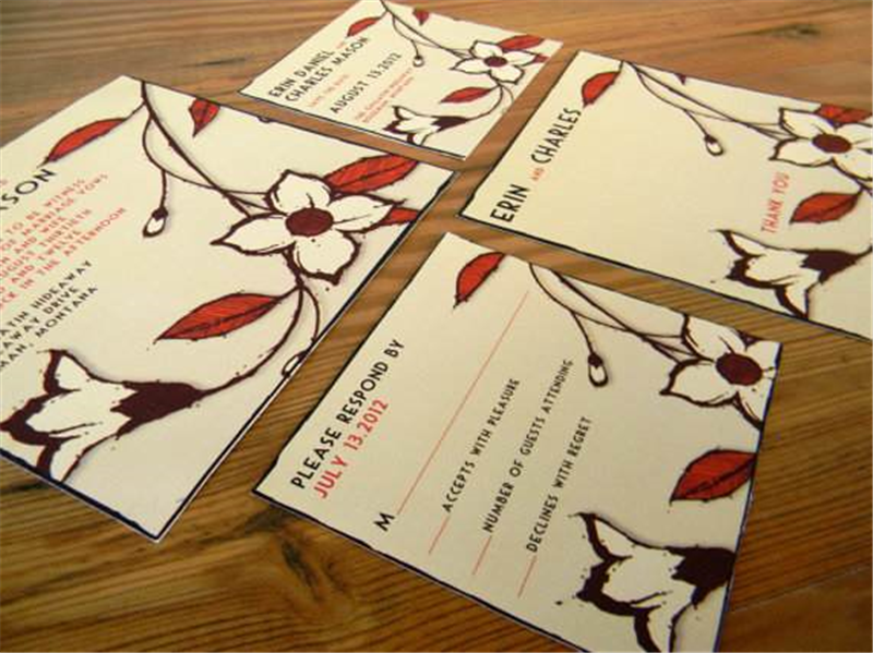 Flat greeting cards A2, A6, & A7