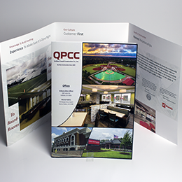 11x25.5 oversized brochure folded to 8.5x11